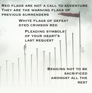 red flags, poem, instagram, surrender