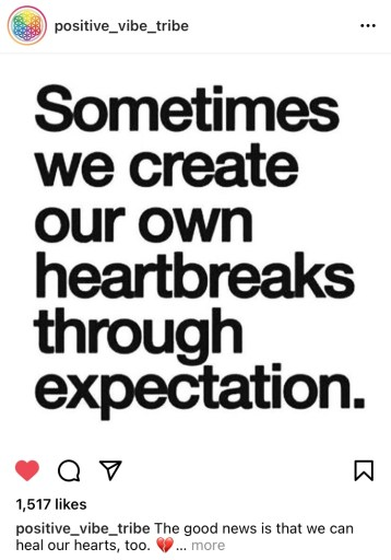expectations, instagram, social media