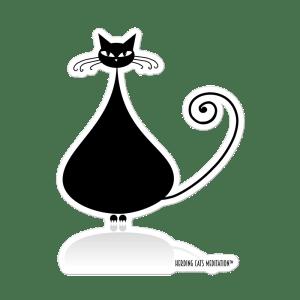 herding cats, meditation, mindfulness, sticker