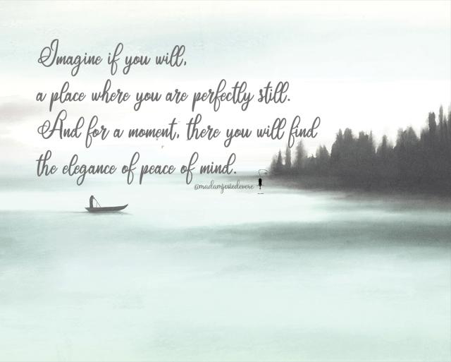 peace of mind, stillness, meditation