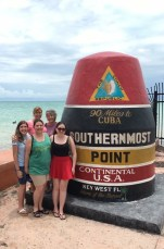 Mom, Grandma, Lily, Izzy, and I at the southernmost point in the United States