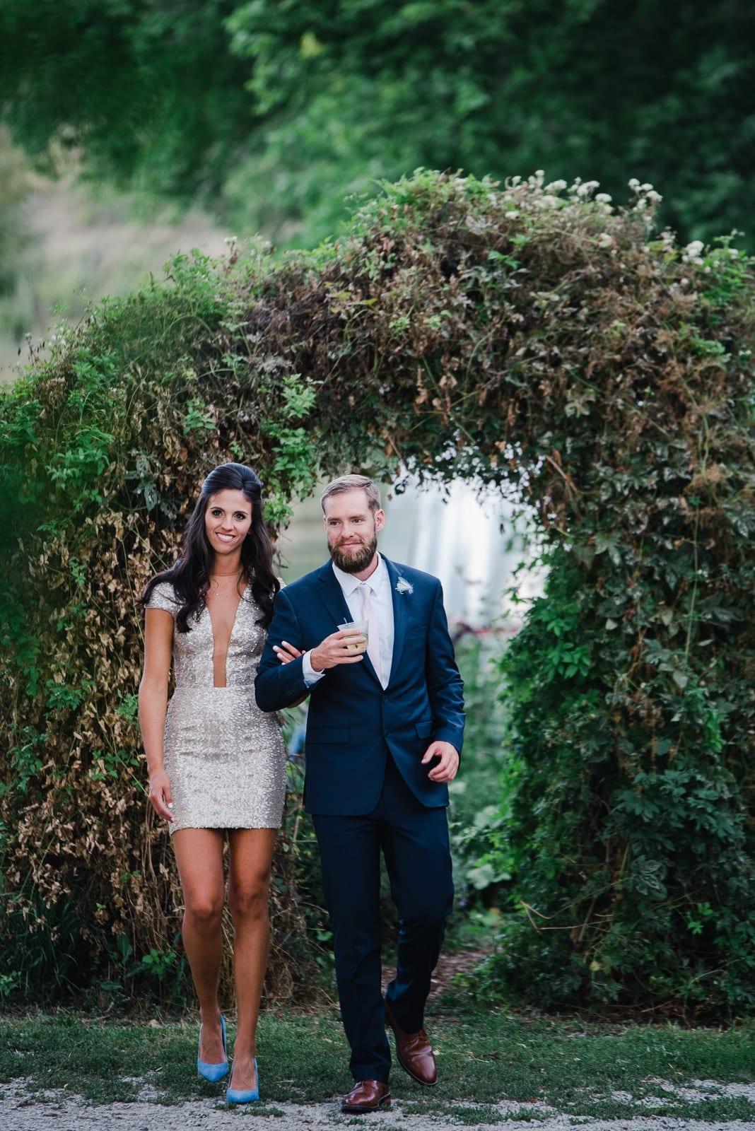 Glamorous wedding reception style by Josie V Photography