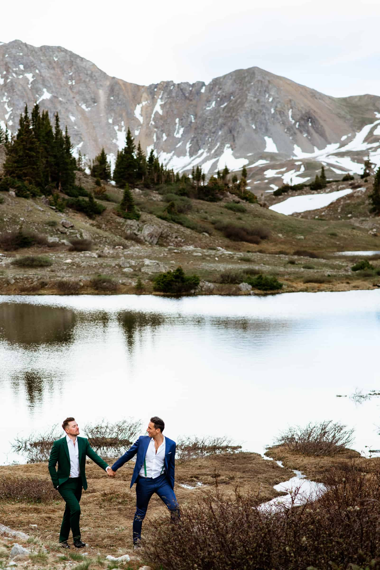Gay Colorado Mountain Wedding | Josie V Photography