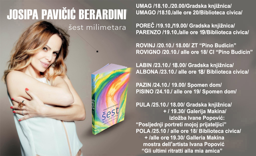 Josipa Pavicic Bearardini Sest milimetara promocija