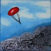 Paraglinding, 20x20 cm