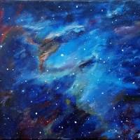 Eagle nebula - acrylic painting