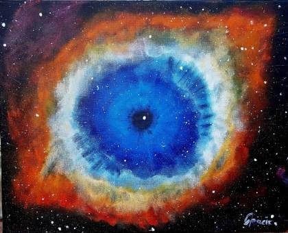 Helix nebula, 40x50 cm