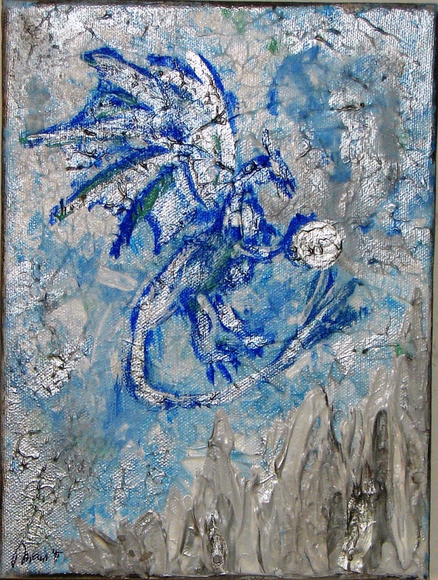 Shadow Dragon Acrylic Painting