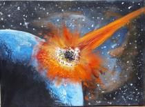 Univers strikes (Meteor impact), 30x40 cm