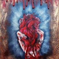 My Body, Heart and Soul (I gave you) - acrylic painting
