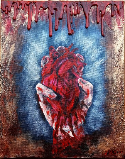 My body, heart and soul (I gave you), 24×30 cm