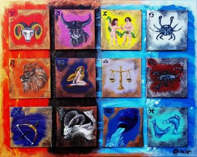 Zodiac, 40x50 cm (12 pcs 10x10)
