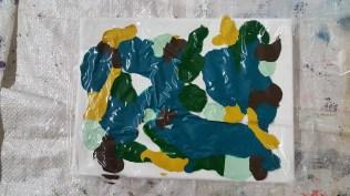 Paint and plastic foil
