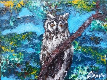 Little owl, 18x24 cm