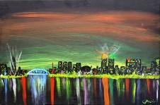 City at night,60x40 cm