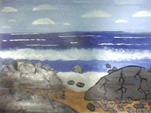 Mar com Pedras- versão papel pintado.