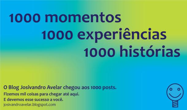 1000 momentos, 1000 experiências, 1000 histórias. E 1000 motivos para continuar indo cada vez mais longe.