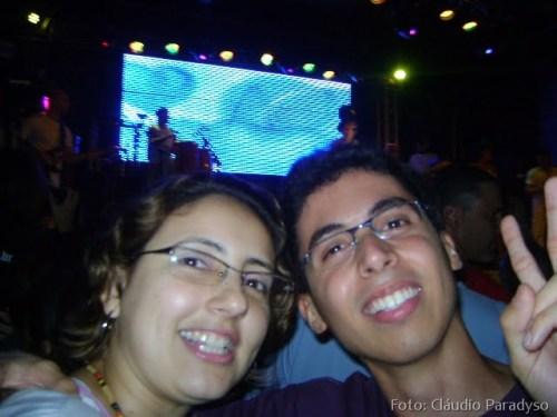 Cláudio e a amiga dele direto do show de Netinho da Bahia.