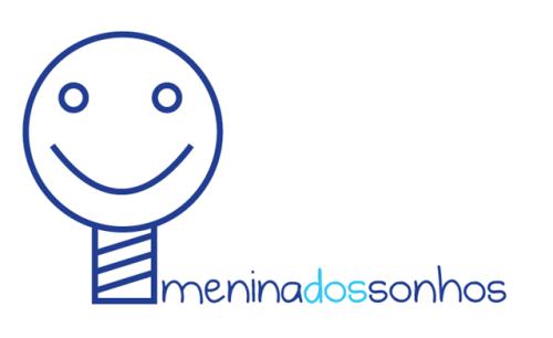 Menina dos Sonhos, único logotipo do portfólio da Companhia Ideias que não usa a tipologia Candara como fonte principal. Usa a tipologia manuscrita Burst My Bubble.