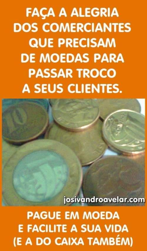 pague em moeda