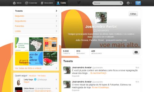 Twitter Josivandro Avelar- maio de 2013