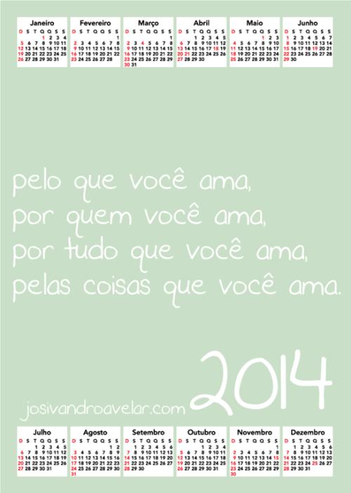 calendário josivandro avelar 2014 22