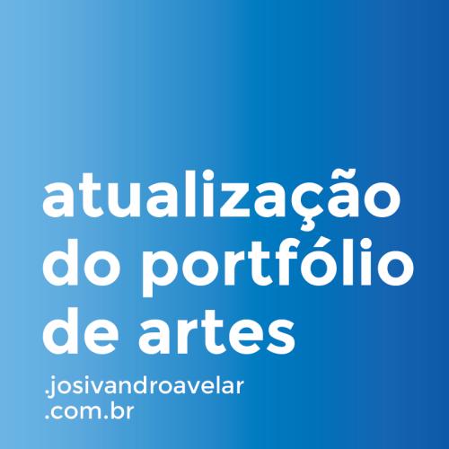 atualização do portfólio de artes