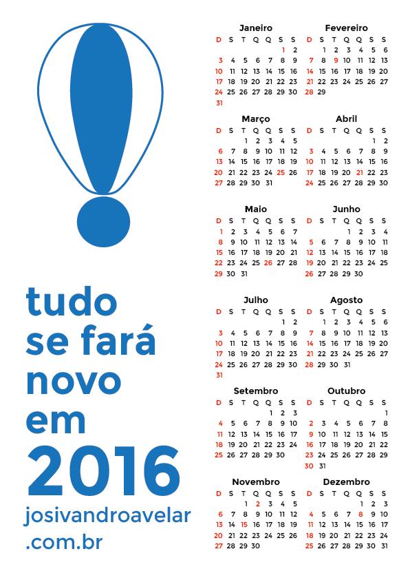 calendário 2016 1