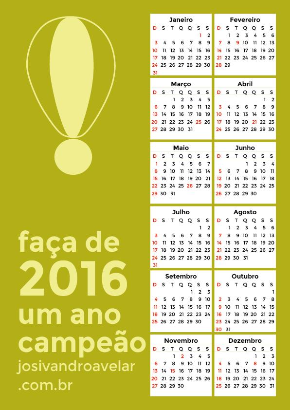 calendário 2016 11