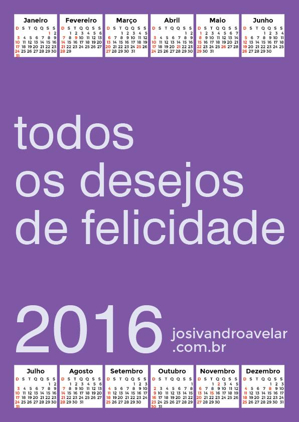 calendário 2016 18