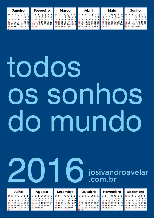 calendário 2016 22