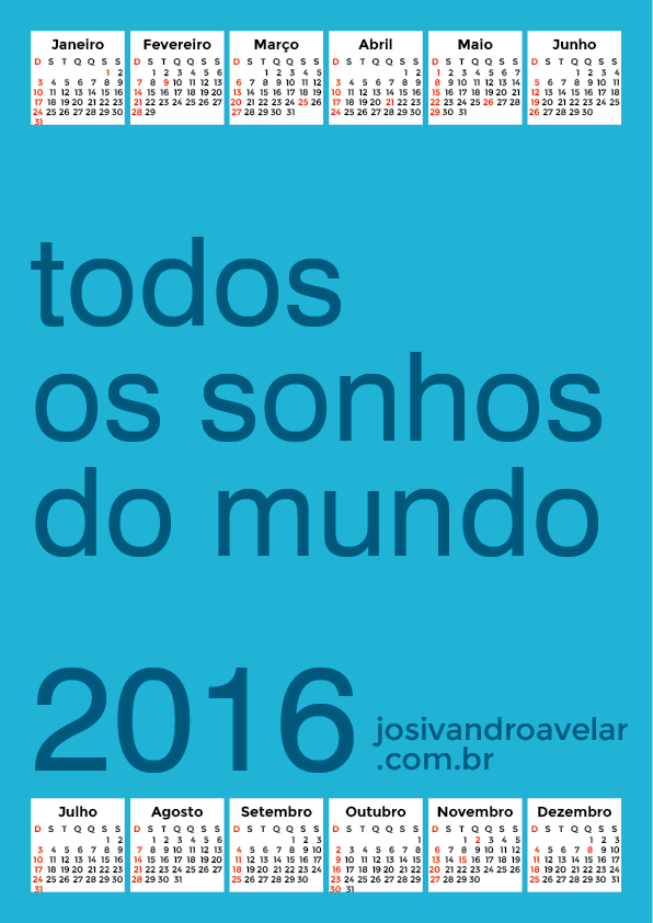 calendário 2016 25