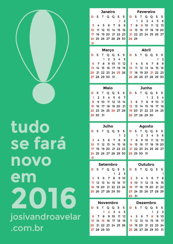 calendário 2016 9