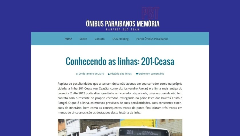 Ônibus Paraibanos Memória- Novo Visual- Março de 2016