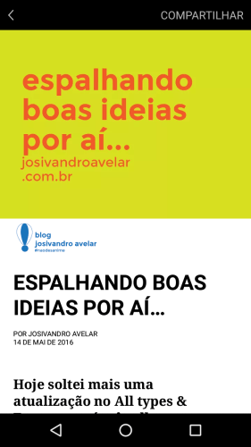 Visual padrão do Blog Josivandro Avelar no formato Instant Articles do Facebook.
