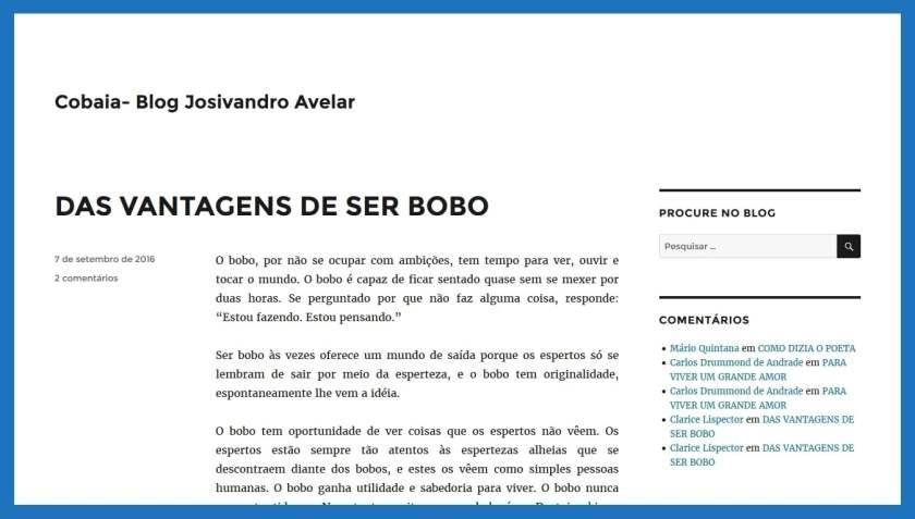 Cobaia do Blog Josivandro Avelar.