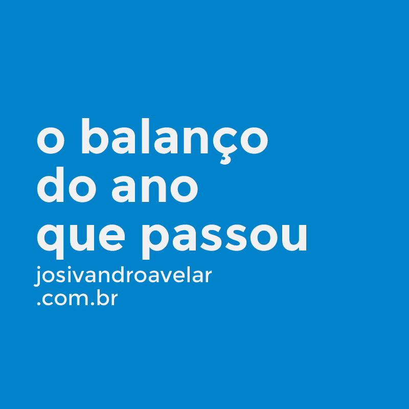 BALANÇO ANUAL DO BLOG JOSIVANDRO AVELAR- ANO 2016