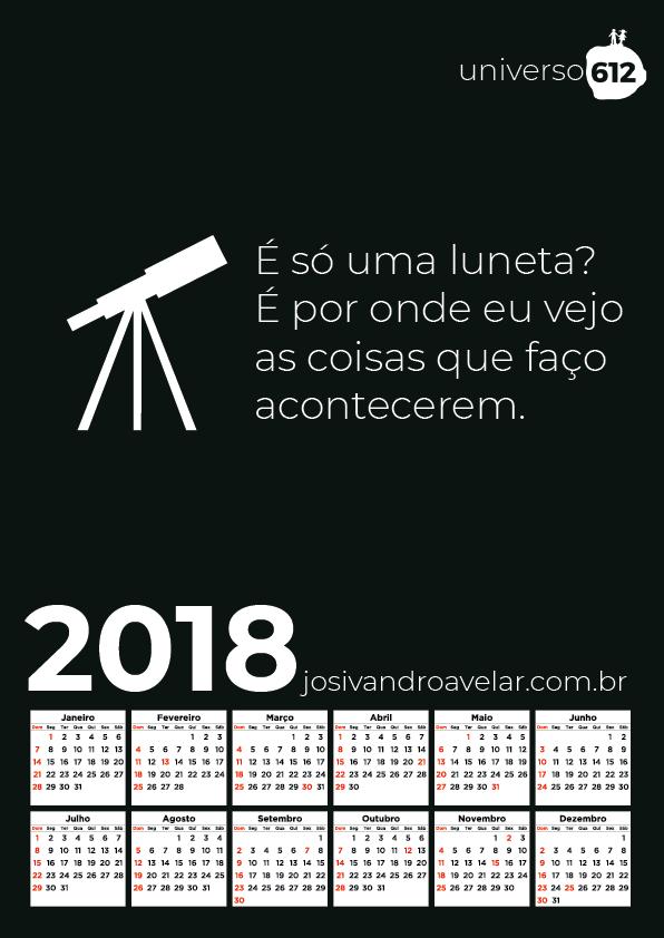 CALENDÁRIO 2018 COLORS 21