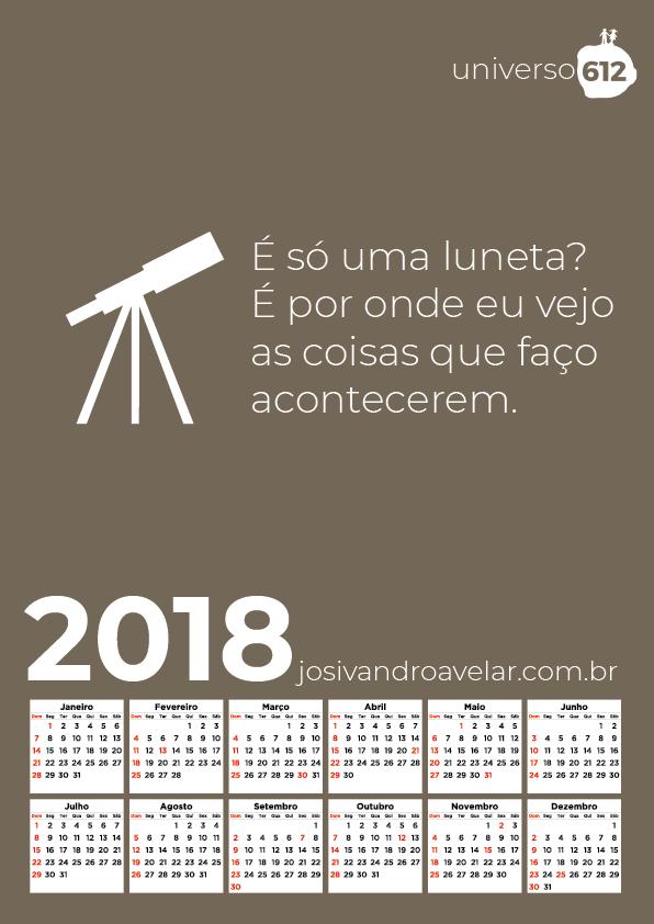CALENDÁRIO 2018 COLORS 24