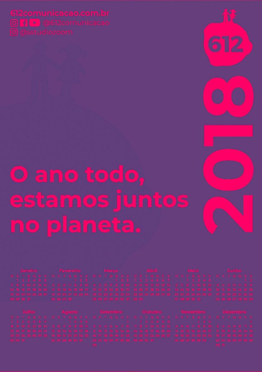 CALENDÁRIO 2018 COLORS 612 5