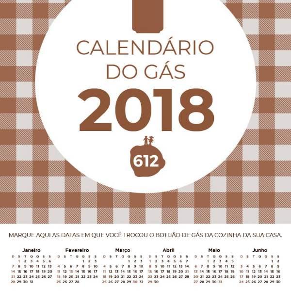 CALENDÁRIO DO GÁS 2018 COLORS 2