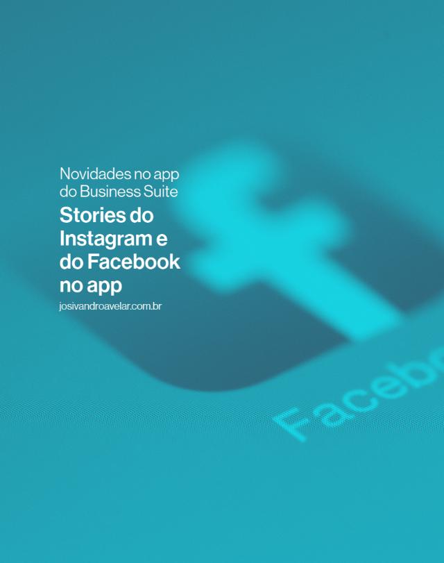 Stories do Instagram e Facebook no app do Business Suite