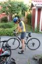 Sue efter cykeltur