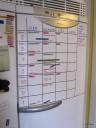 Kalender på frysen