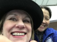 Happy hat, happy Lisa.