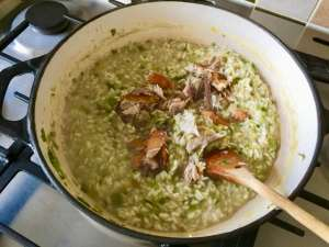 Leeks and Smoked Mackerel Risotto