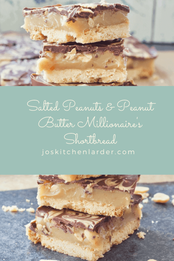 Salted Peanuts & Peanut Butter Millionaire's Shortbread