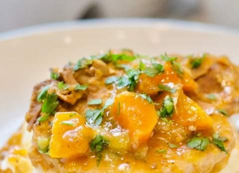 Braised Pork Chops with Leeks & Carrots