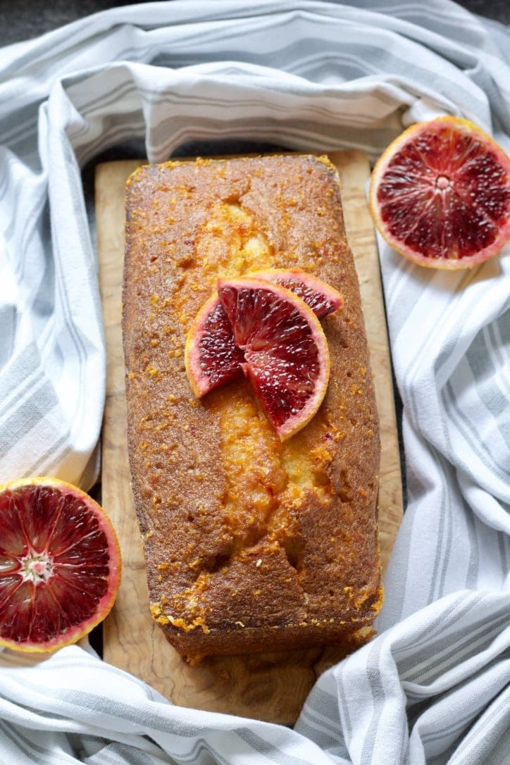 Easy Blood Orange Drizzle Cake