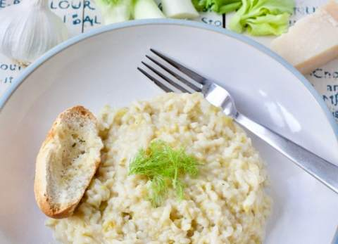 Instant Pot Fennel & Leek Risotto
